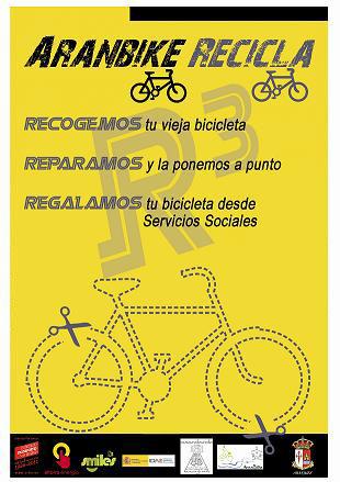 Cartel de Aranbike Recicla